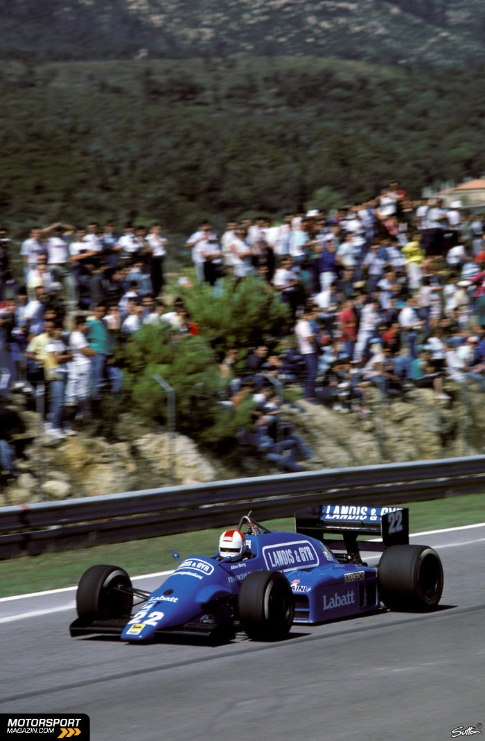 Formel 1 1986, Portugal GP, Estoril, Osella, Bild: Sutton