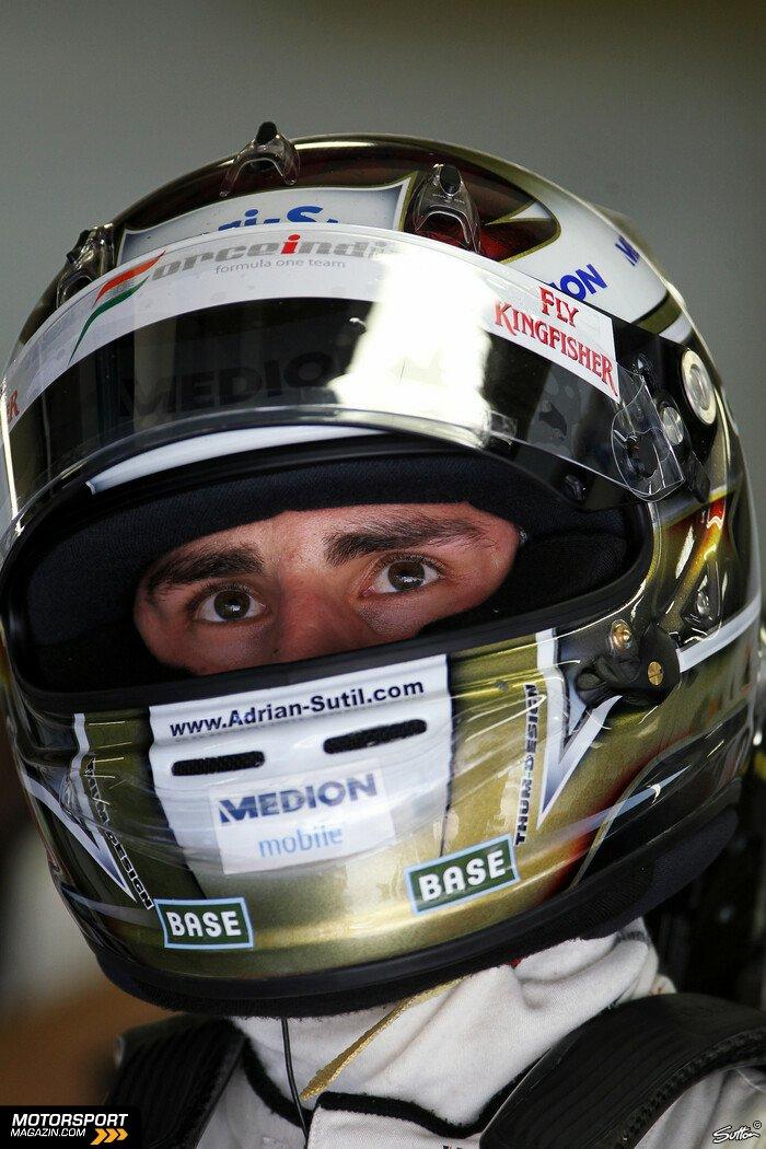 Formel 1 2010, Brasilien GP, São Paulo, Adrian Sutil, Sahara Force India, Bild: Sutton