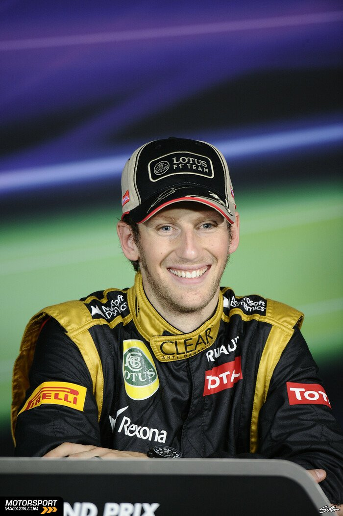 Formel 1 2012, Australien GP, Melbourne, Romain Grosjean, Lotus F1 Team, Bild: Sutton