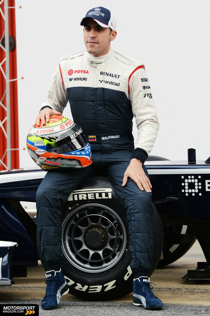 Formel 1 2013, Pr�sentationen, Pastor Maldonado, Williams, Bild: Sutton
