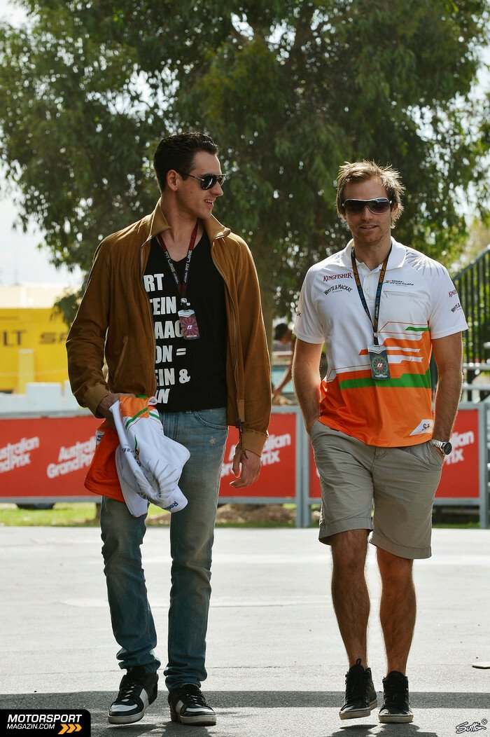 Formel 1 2013, Australien GP, Melbourne, Adrian Sutil, Force India, Bild: Sutton