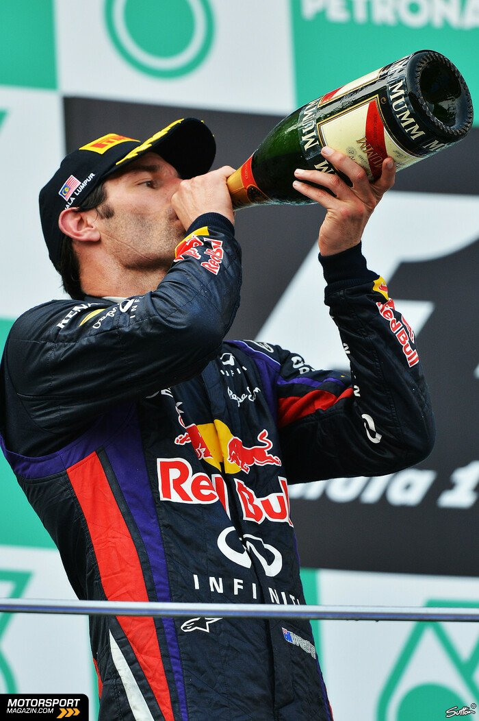 Formel 1 2013, Malaysia GP, Sepang, Mark Webber, Red Bull Racing, Bild: Sutton