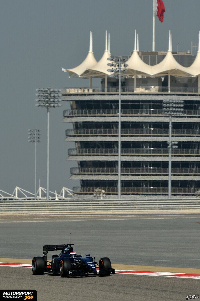 Formel 1 2014, Testfahrten, Bahrain I, Sakhir, Valtteri Bottas, Williams, Bild: Sutton