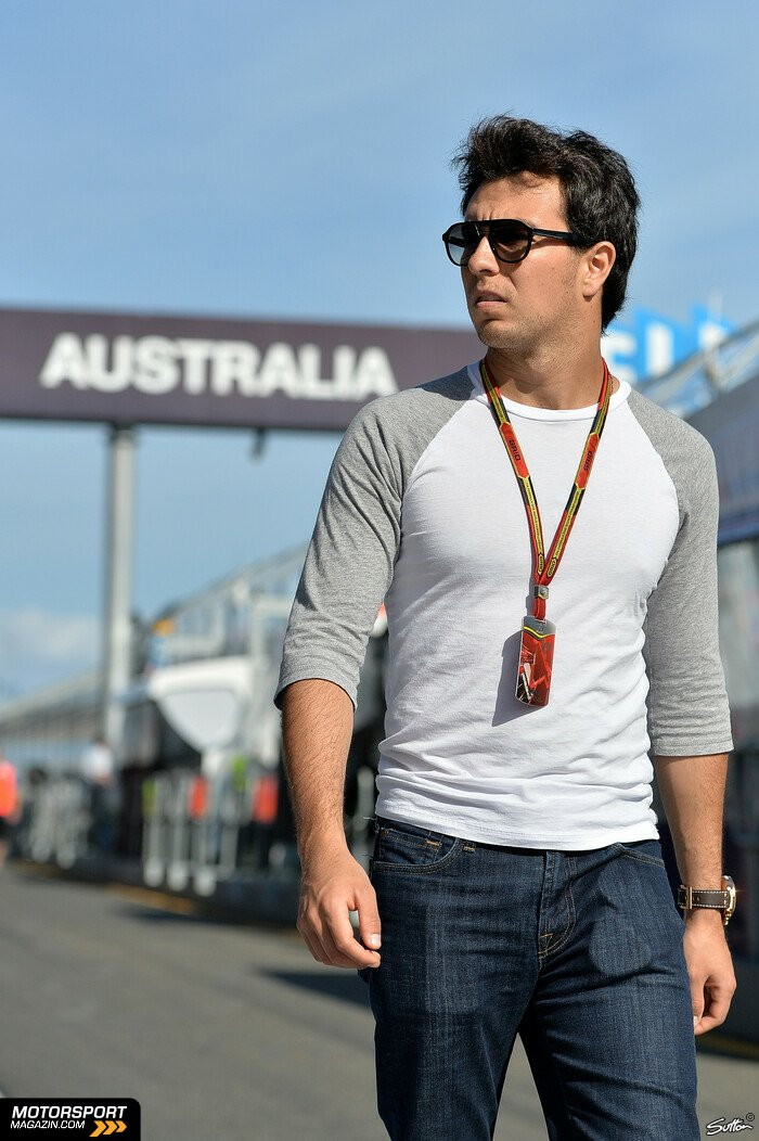 Formel 1 2014, Australien GP, Melbourne, Sergio P�rez, Force India, Bild: Sutton