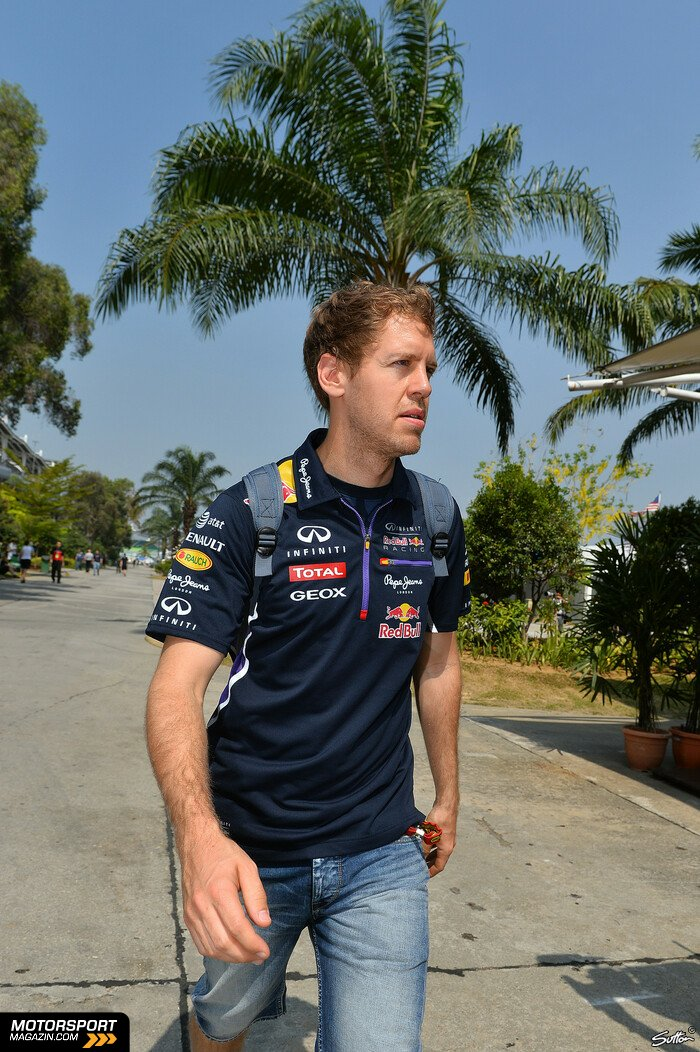 Formel 1 2014, Malaysia GP, Sepang, Sebastian Vettel, Red Bull, Bild: Sutton