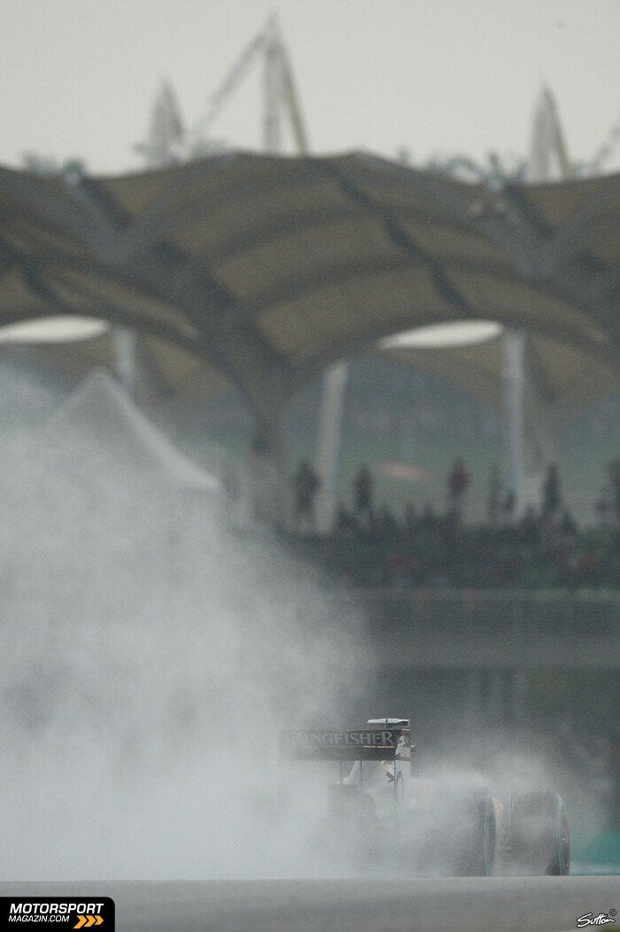 Formel 1 2014, Malaysia GP, Sepang, Nico Hülkenberg, Sahara Force India, Bild: Sutton