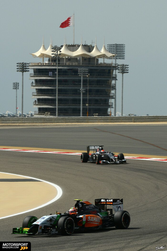 Formel 1 2014, Bahrain GP, Sakhir, Sergio P�rez, Force India, Bild: Sutton