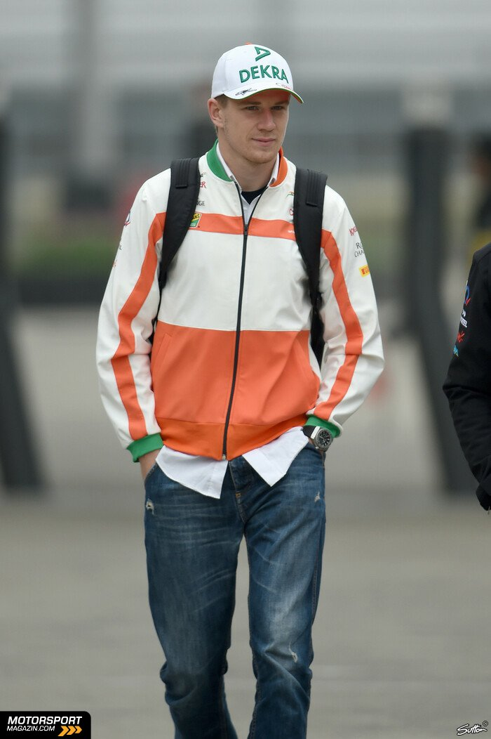 Formel 1 2014, China GP, Shanghai, Nico H�lkenberg, Force India, Bild: Sutton