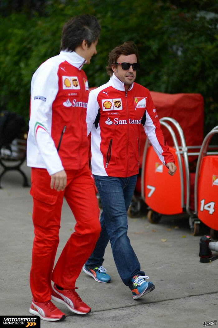 Formel 1 2014, China GP, Shanghai, Fernando Alonso, Ferrari, Bild: Sutton