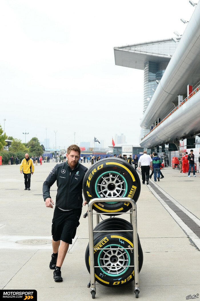 Formel 1 2014, China GP, Shanghai, Mercedes AMG, Bild: Sutton