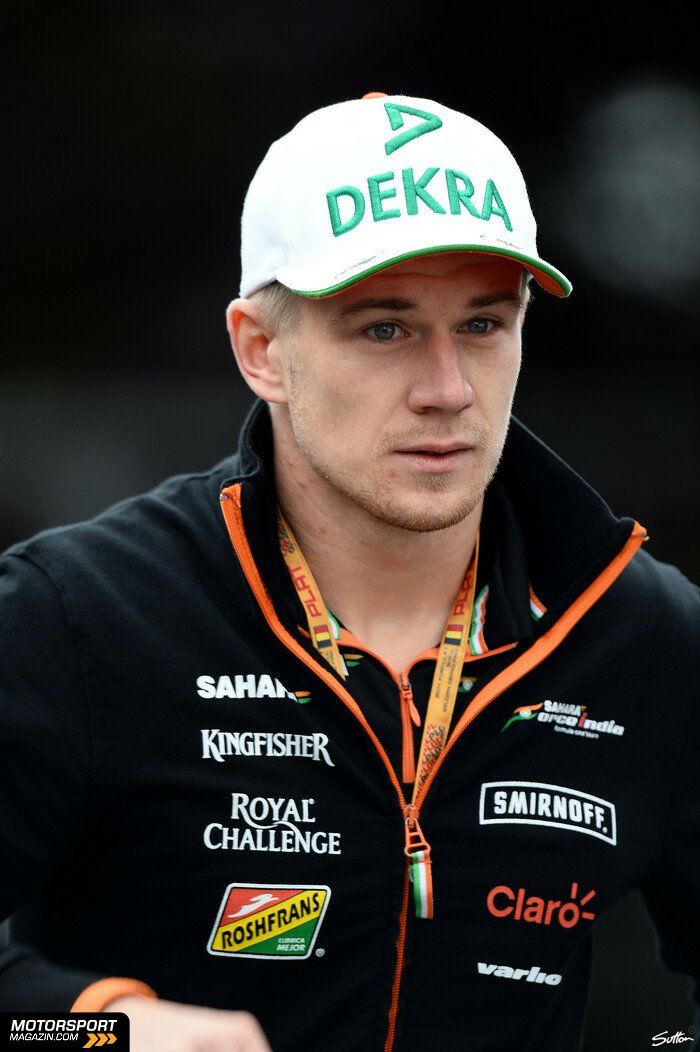 Formel 1 2014, Belgien GP, Spa-Francorchamps, Nico H�lkenberg, Force India, Bild: Sutton