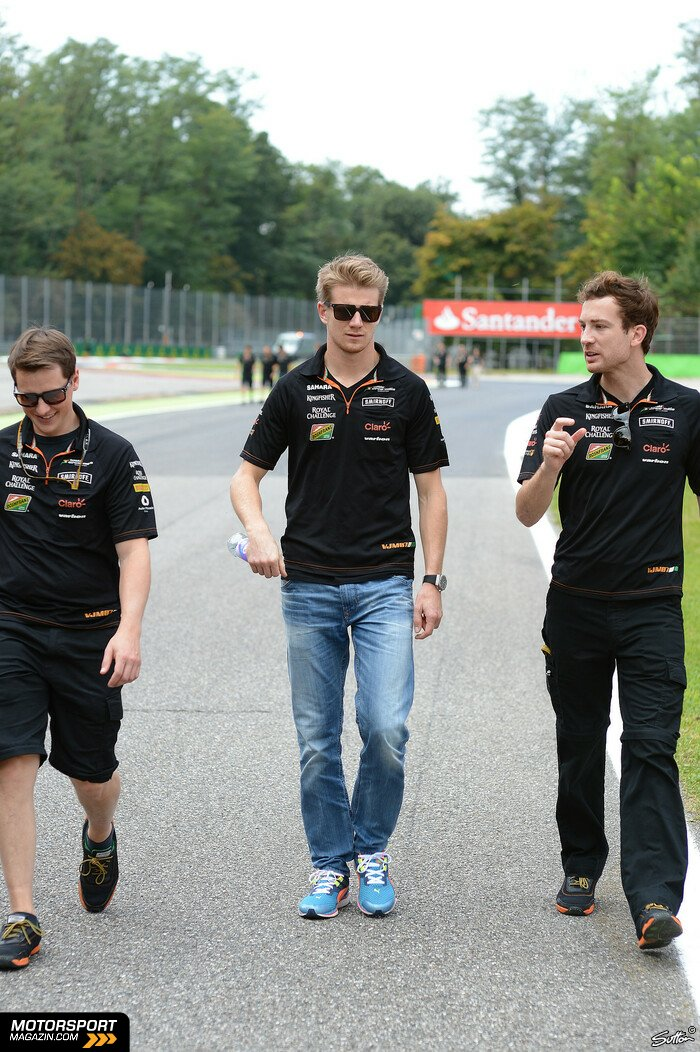 Formel 1 2014, Italien GP, Monza, Nico H�lkenberg, Force India, Bild: Sutton