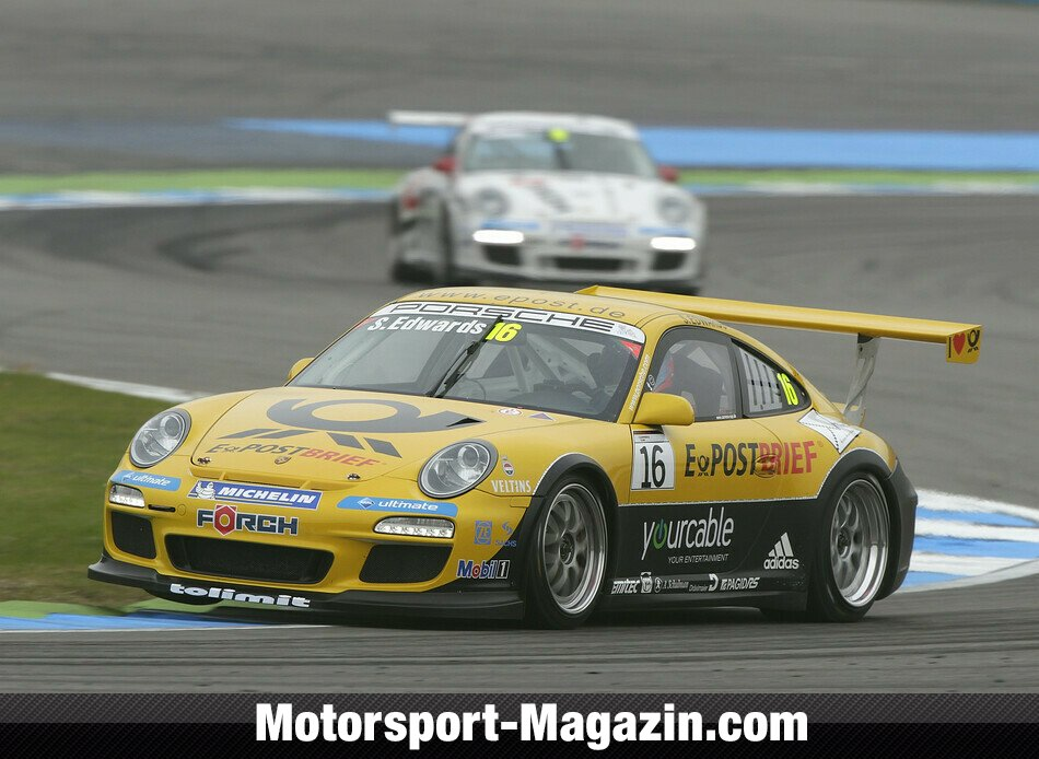 Carrera Cup 2011, Hockenheim II, Hockenheim, Sean Edwards, Team Deutsche Post by tolimit, Bild: Porsche