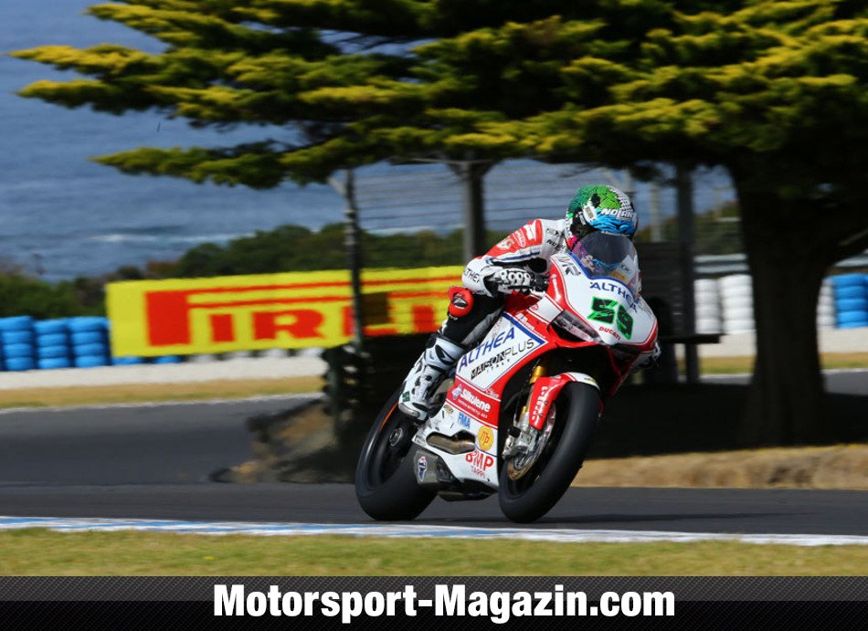 Superbike WSBK 2014, Testfahrten, Niccolò Canepa, Althea Racing, Bild: Althea