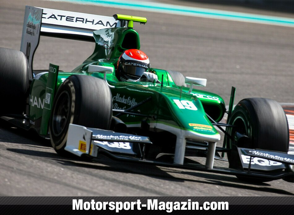 GP2 2014, Testfahrten, Alexander Rossi, Caterham Racing, Bild: Malcolm Griffiths/GP2 Series Media Service