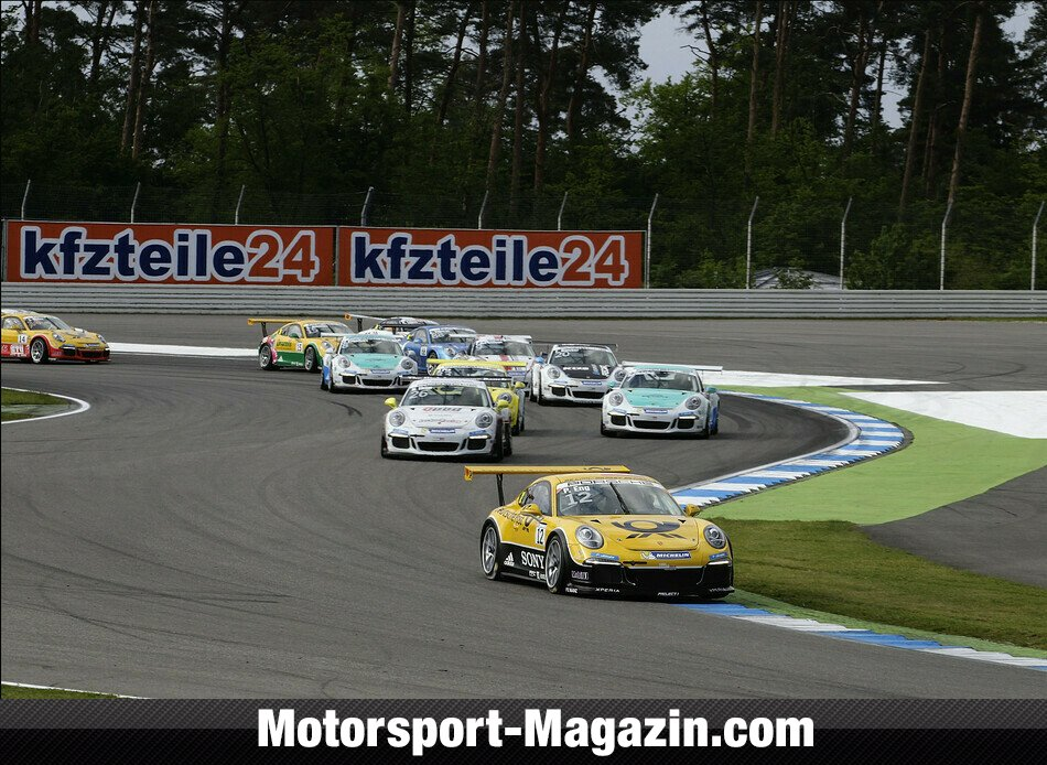Carrera Cup 2014, Hockenheim I, Hockenheim, Philipp Eng, Deutsche Post by Project 1, Bild: Porsche