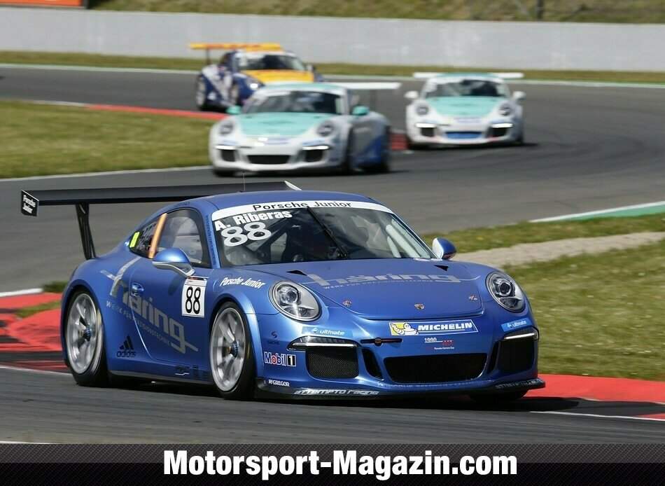 Carrera Cup 2014, Oschersleben, Oschersleben, Alex Riberas, Attempto Racing by H�ring, Bild: Porsche