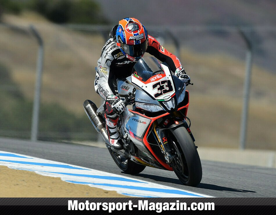 Superbike 2014, USA, Monterey, Bild: Aprilia Racing Team