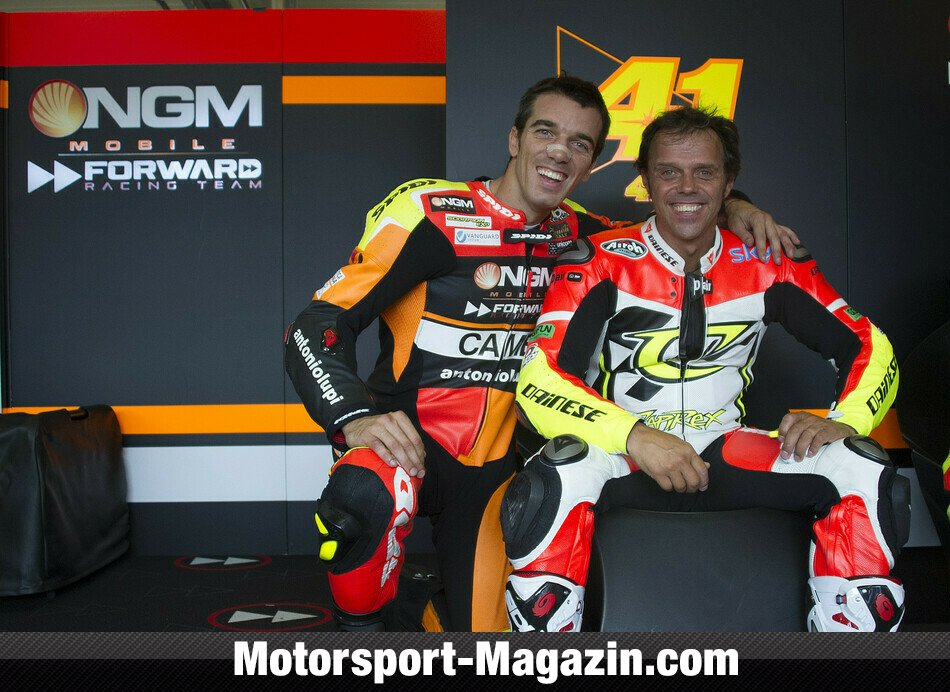 MotoGP 2014, Testfahrten, Loris Capirossi, Forward Team, Bild: NGM Forward