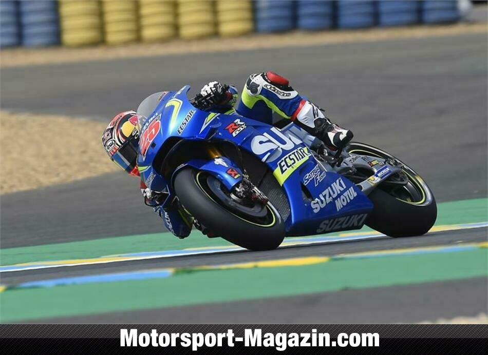vinales in le mans erstes suzuki podium seit 2008 motogp motorsport. Black Bedroom Furniture Sets. Home Design Ideas