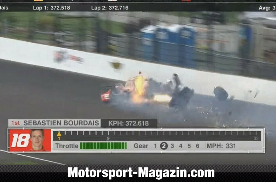 Motorsport: Indy 500: Horror-Crash von Bourdais