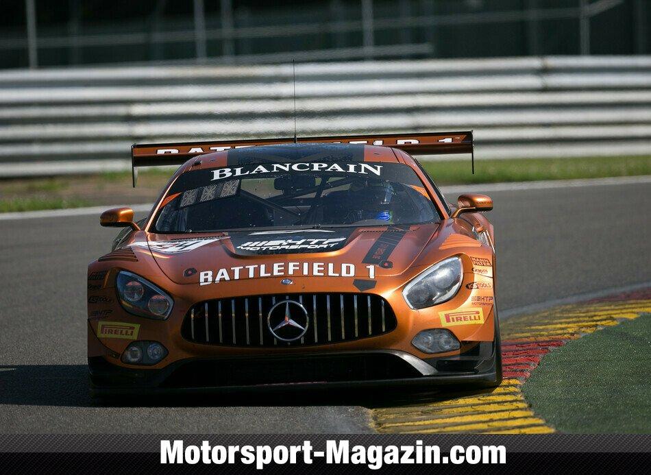 Blancpain GT Series 2017, Testfahrten, 24 Stunden von Spa-Francorchamps (BES), Spa-Francorchamps, Mercedes-AMG Team HTP Motorsport, Bild: Vision Sport Agency