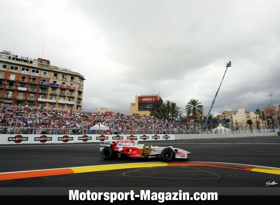 Formel 1 2008, Europa GP, Valencia, Giancarlo Fisichella, Force India, Bild: Sutton