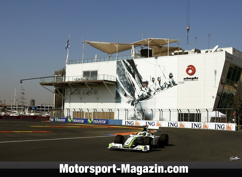 Formel 1 2009, Europa GP, Valencia, Jenson Button, Brawn GP, Bild: Sutton