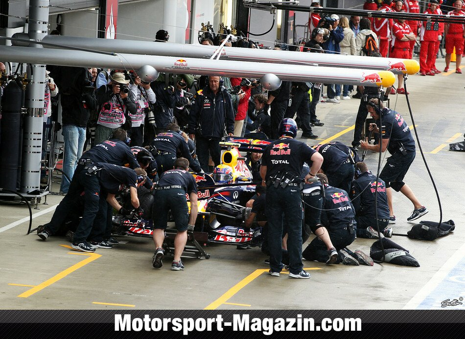 Formel 1 2011, Gro�britannien GP, Silverstone, Mark Webber, Red Bull Racing, Bild: Sutton
