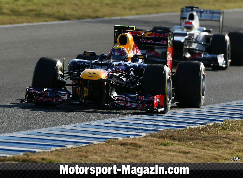 Formel 1 2012, Testfahrten, Jerez Test, Jerez de la Frontera, Mark Webber, Red Bull Racing, Bild: Sutton