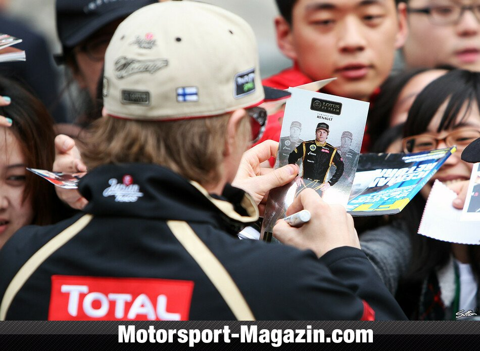 Formel 1 2012, China GP, Shanghai, Kimi R�ikk�nen, Lotus F1 Team, Bild: Sutton
