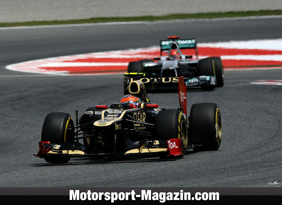 Formel 1 2012, Spanien GP, Barcelona, Romain Grosjean, Lotus F1 Team, Bild: Sutton