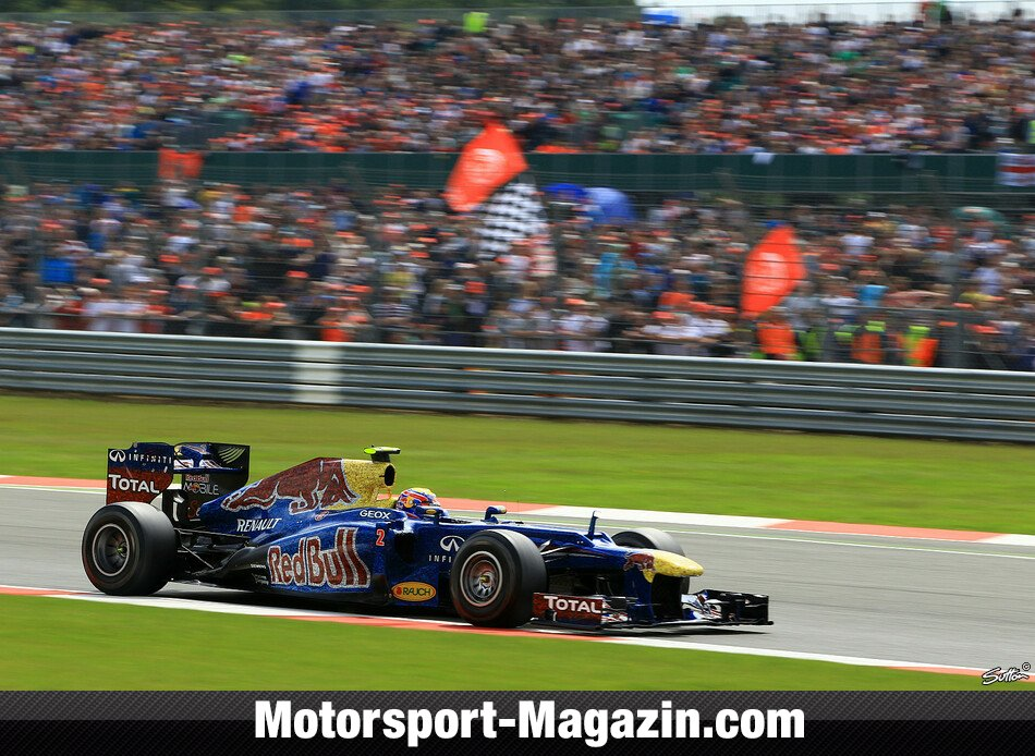 Formel 1 2012, Gro�britannien GP, Silverstone, Mark Webber, Red Bull Racing, Bild: Sutton