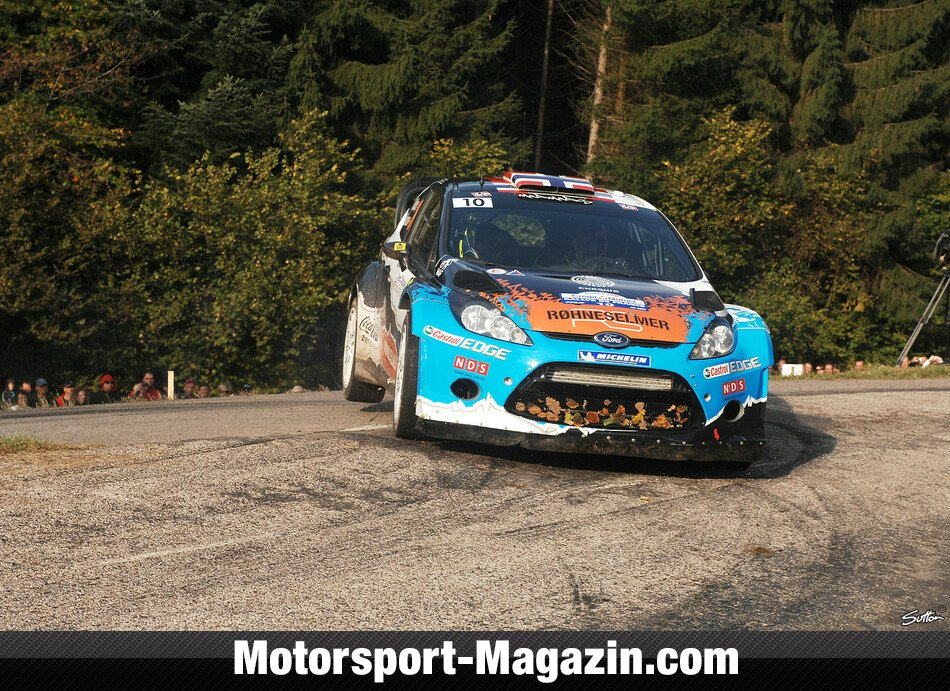 WRC 2012, Rallye Frankreich, Elsass, Mads Östberg, Adapta World Rally Team, Bild: Sutton