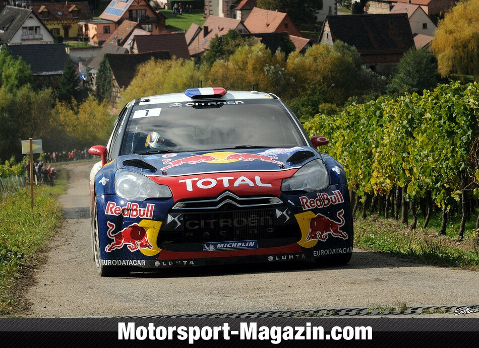 WRC 2012, Rallye Frankreich, Elsass, S�bastien Loeb, Citroen World Rally Team, Bild: Sutton