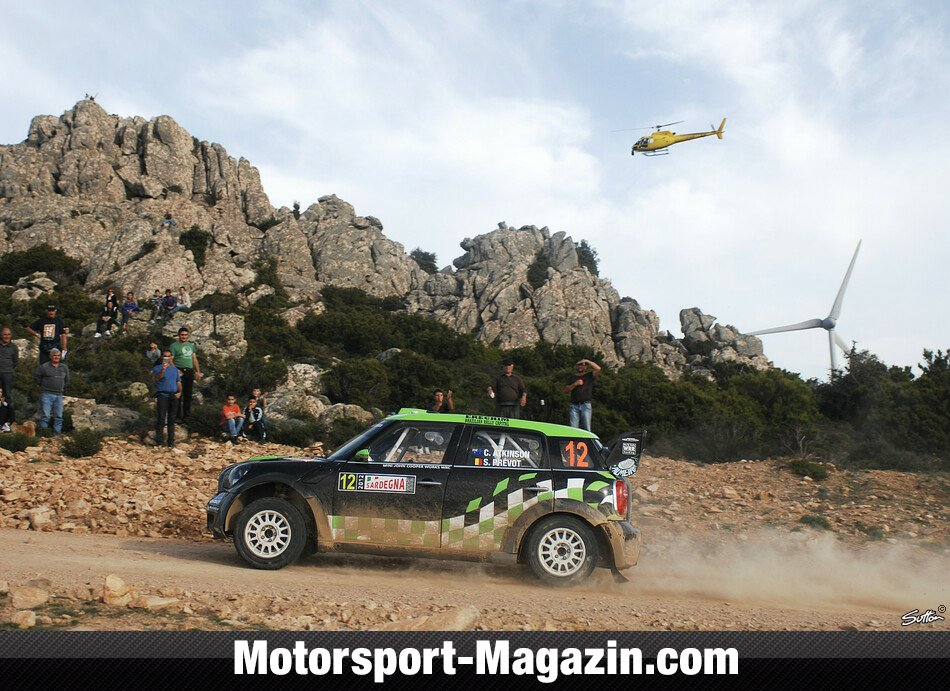 WRC 2012, Rallye Italien, Alghero, Chris Atkinson, WRC Team Mini Portugal, Bild: Sutton