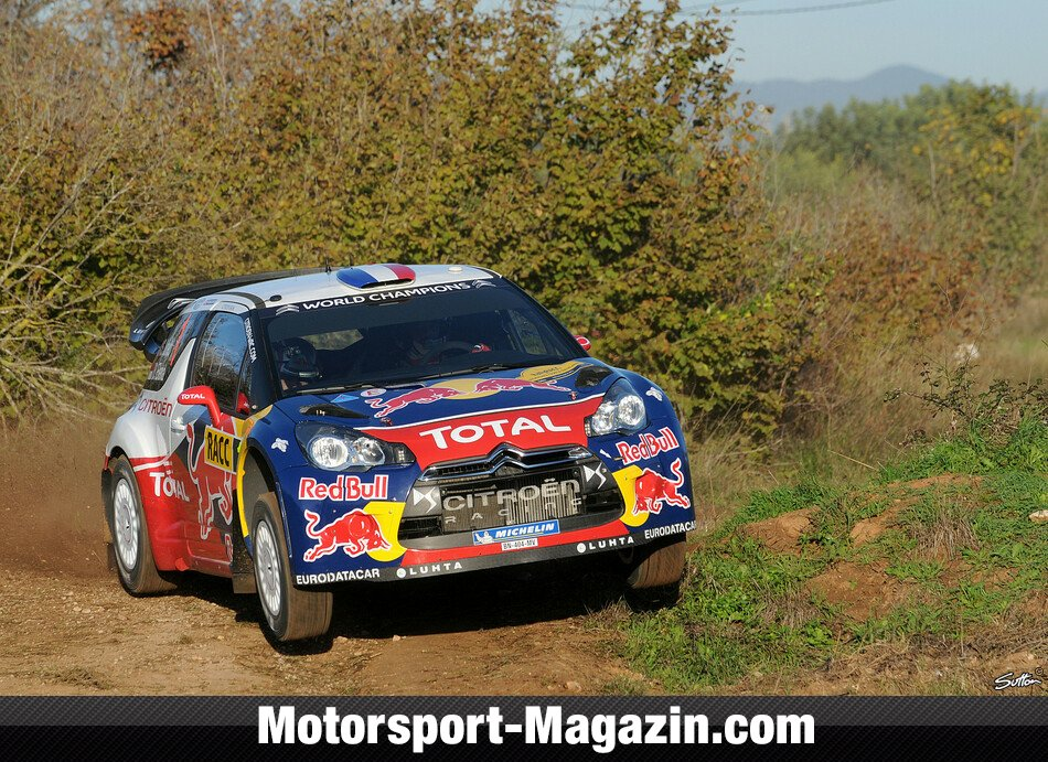 WRC 2012, Rallye Katalonien, Salou, S�bastien Loeb, Citroen World Rally Team, Bild: Sutton