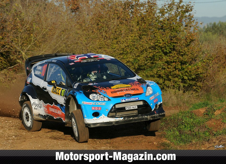 WRC 2012, Rallye Katalonien, Salou, Mads Östberg, Adapta World Rally Team, Bild: Sutton