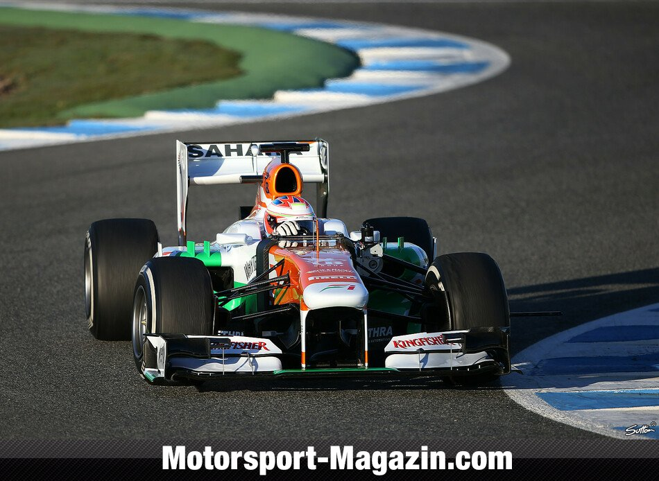 Formel 1 2013, Testfahrten, Jerez, Jerez de la Frontera, Paul Di Resta, Force India, Bild: Sutton