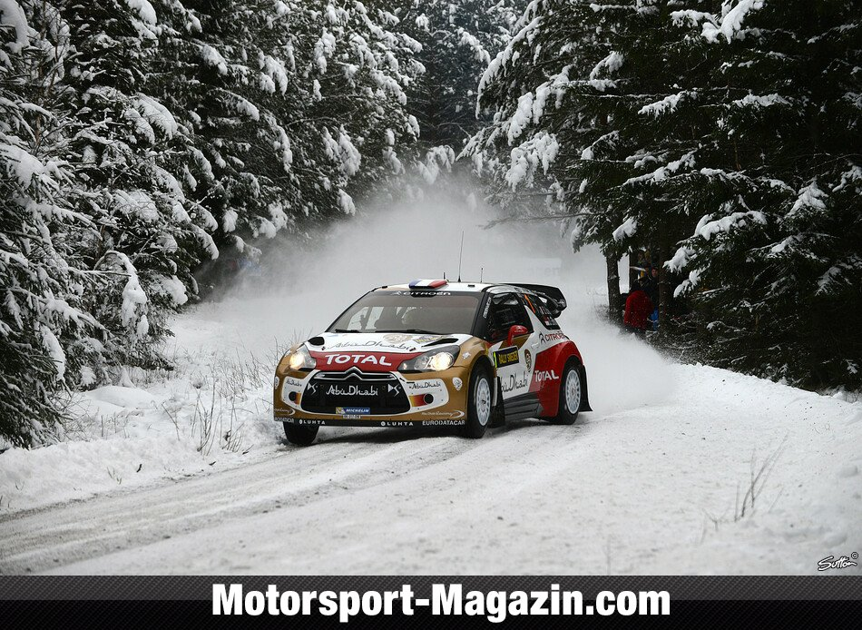 WRC 2013, Rallye Schweden, Torsby, Sébastien Loeb, Citroen World Rally Team, Bild: Sutton