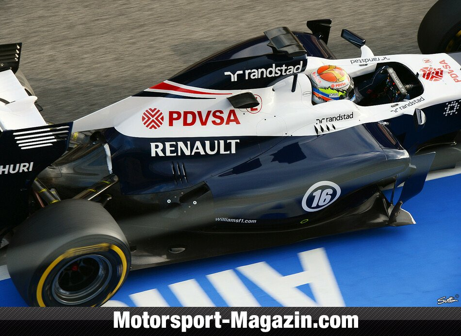 Formel 1 2013, Testfahrten, Pastor Maldonado, Williams, Bild: Sutton