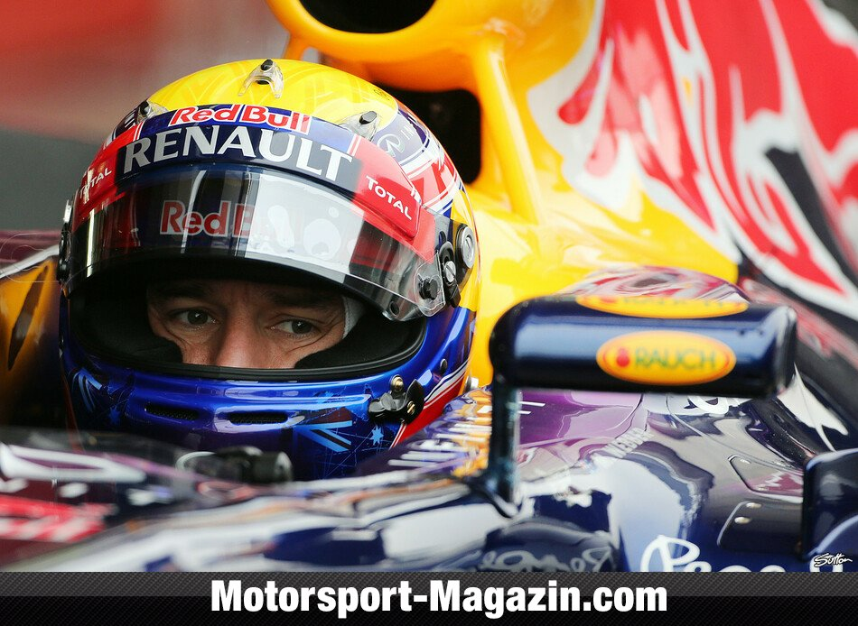 Formel 1 2013, Testfahrten, Barcelona I, Barcelona, Mark Webber, Red Bull Racing, Bild: Sutton