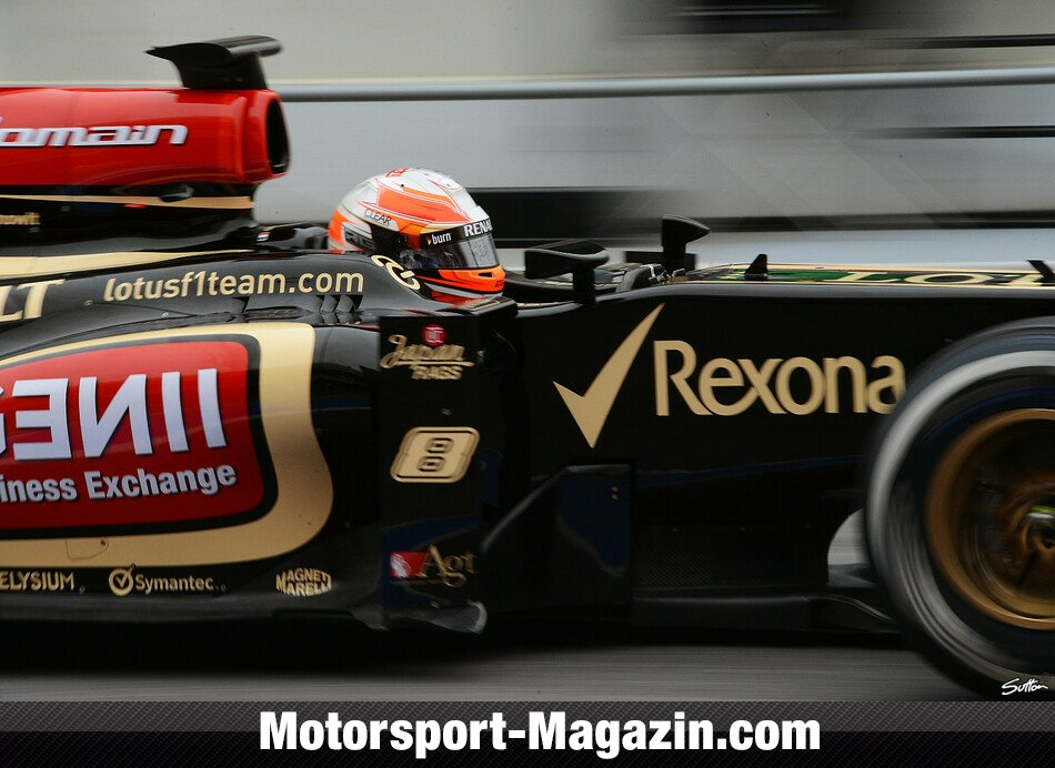 Formel 1 2013, Testfahrten, Barcelona I, Barcelona, Romain Grosjean, Lotus F1 Team, Bild: Sutton