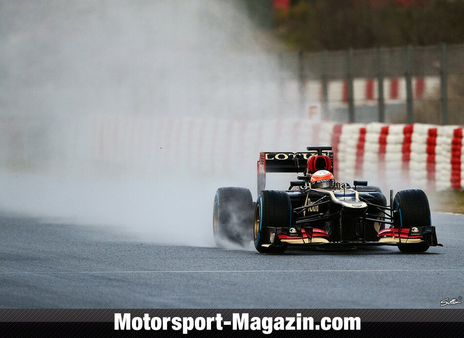 Formel 1 2013, Testfahrten, Barcelona II, Barcelona, Romain Grosjean, Lotus F1 Team, Bild: Sutton