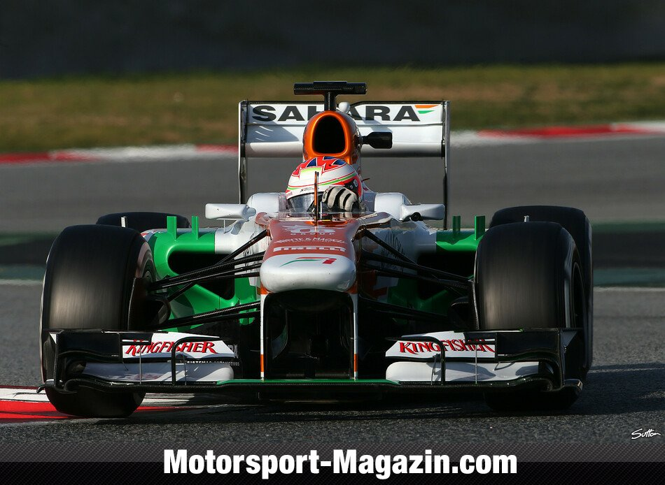 Formel 1 2013, Testfahrten, Barcelona II, Barcelona, Paul Di Resta, Force India, Bild: Sutton