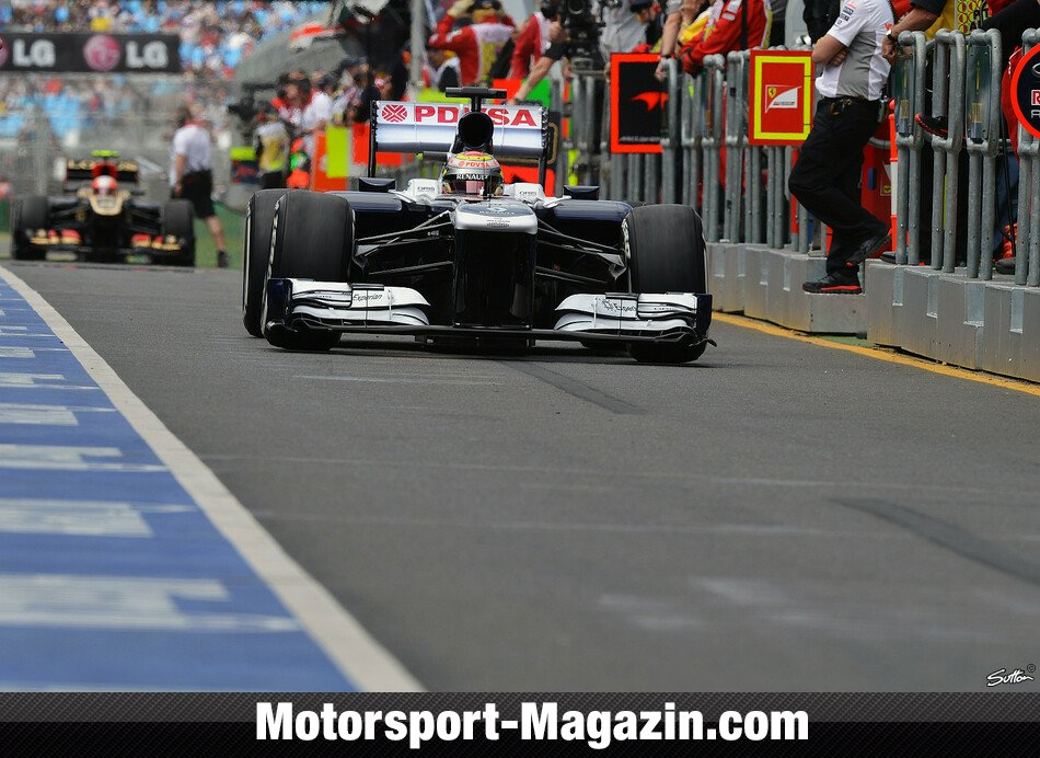 Formel 1 2013, Australien GP, Melbourne, Pastor Maldonado, Williams, Bild: Sutton