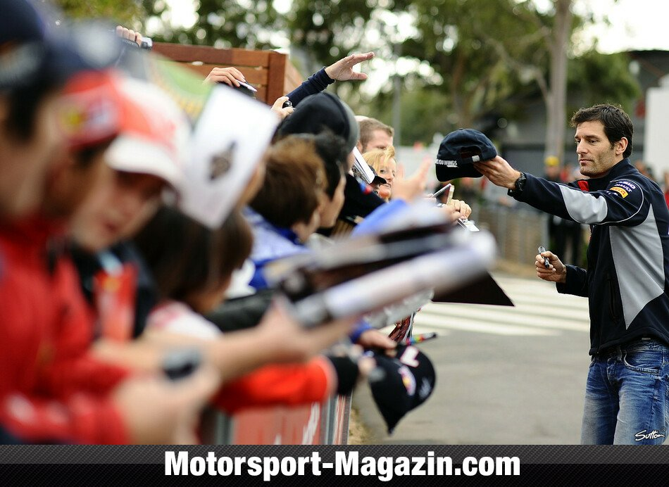 Formel 1 2013, Australien GP, Melbourne, Mark Webber, Red Bull Racing, Bild: Sutton