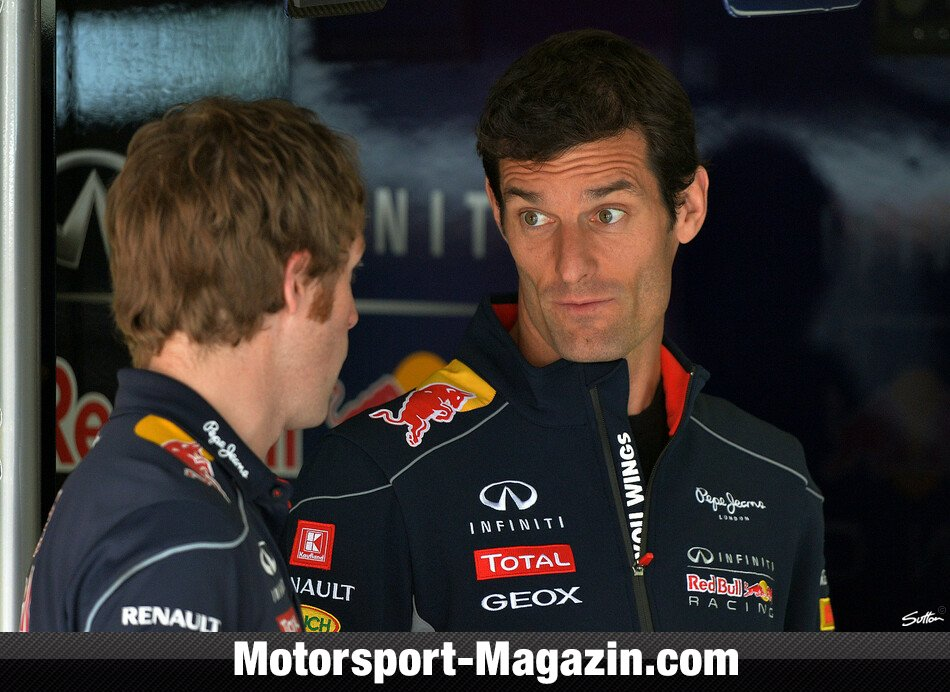 Formel 1 2013, Deutschland GP, Nürburg, Mark Webber, Red Bull Racing, Bild: Sutton
