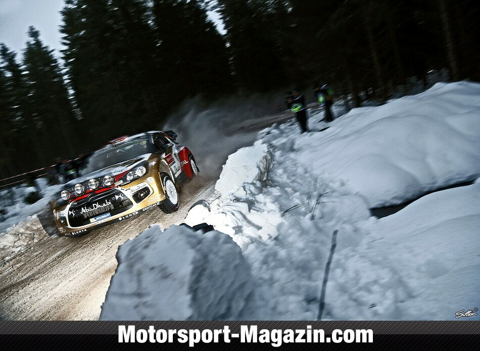 WRC 2014, Rallye Schweden, Torsby, Mads Östberg, Citroen World Rally Team, Bild: Sutton