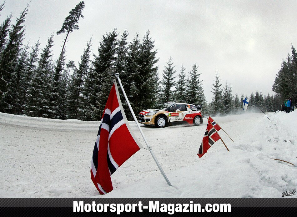 WRC 2014, Rallye Schweden, Karlstad, Kris Meeke, Citroen World Rally Team, Bild: Sutton